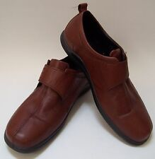 ECCO Shoes Brown Oxford Flats Vegetable Tanned Slip-on  Womens Size 41/9.5
