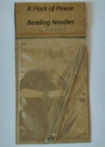 PACK OF 8 BEADING NEEDLES 55 mm FOR SEED BEADS BEAD NEEDLE CRAFT