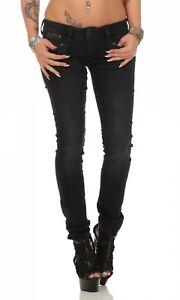 HERRLICHER - PIPER Slim Black - DB840/671 - Röhre Schwarz / Damen Jeans Hose