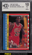 1987 Fleer Sticker Michael Jordan #2 BCCG 10 (PWCC)