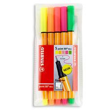 Stabilo Point 88 Mini 5-Color Neon Wallet Set
