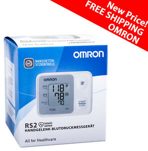 Omron RS2 Wrist Blood Pressure Monitor With Cuff Wrapping Guide GENUINE hem-6121