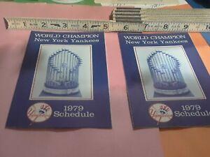 2 New York Yankees 1979 Schedule