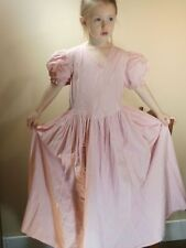 Child Youth Girl VINTAGE Clothing Dress 4-6 Year Old Gown Pink Prairie USA