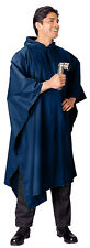 Military Style Rain Poncho Rip Stop Tent Shelter Navy Blue Rothco 4966