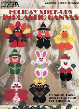 Holiday Stick-Ups Witch Bunny Turkey Duck Santa & More plastic canvas patterns