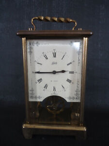 Vintage 8 Day Schatz & Sohne Brass Carriage Clock. Spares Or Repair.