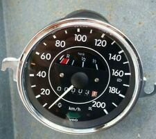 VW Käfer 1200/1300 Tacho bis 200 km/h mit Chromring ( Mwst. ausweisbar !! )