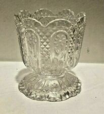 Vintage Avon Fostoria Clear Glass Footed Candle Holder