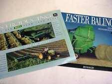 2 John Deere Hay & Round Balers Equipment Brochures                   b4