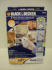 New Black & Decker Fw3000 5-Piece Freewire Indoor/Outdoor Remote Outlet Kit Nib