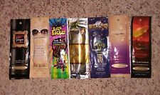 Indoor Bronzing Tanning Bed Lotion Trial Lot of 7 Mixed (7 different)