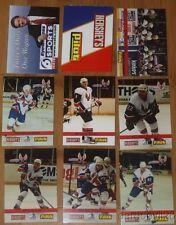 2000 Knoxville Speed UHL Hockey 9 Card SGA Game Day Promo Card Set