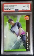 2000-2001 Czech Stadion #178 Tiger Woods Rookie Card RC PSA 8 NM-MT Rare! PGA