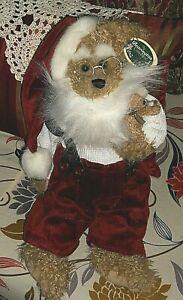 VTG 2001 KRIS & KRINGLE BEARINGTON SANTA & BABY BEAR CHRISTMAS MWT