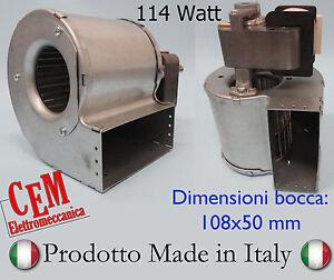 Ventilatore Centrifugo 114 Watt Motore per refrigerazione caldaia stufa fancoil