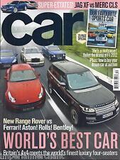 Car magazine Range Rover Jaguar XF Mercury CLS F1  2012 Auction buying guide