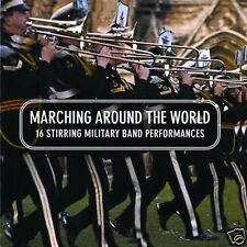 16 MILITARY BAND PERFORMANCES MARCHING AROUND THE WORLD NEW CD ARMY MARINE BRASS