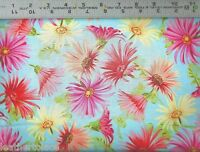 VIP Exclusive ~ PAISLEY DAISLEY ~ Daisies on Blue ~ 100% Cotton Quilt Fabric BTY