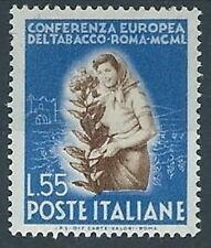 1950 ITALIA TABACCO 55 LIRE MH * - RR13932