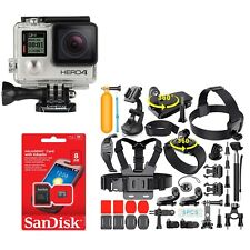 Gopro Hero4 BLACK Edition 4K Action Camera CHDHX-401 With 35+ Kit accessories