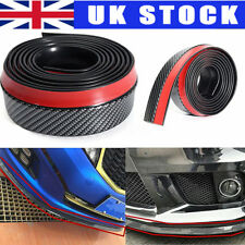 UK  2.5mx5.5cm Custom Car Front Bumper Lip Splitter Chin Spoiler Body Trim Strip