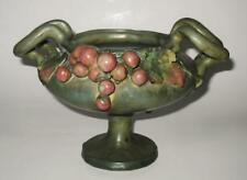 Amphora 3646 Majolica, Grapes & Leaves, Handled Footed Green Compote
