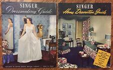Vintage 1947 Singer Illustrated Dressmaking Guide & Home Decoration Guide