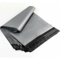 """100 Bags 6.5"""" x 9"""" Grey Strong Plastic Mailing Post Poly Postage Mail Self Seal"""