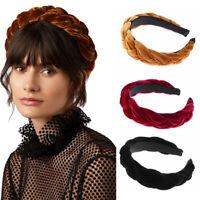 pour cheveux cheveux hoop braid ruban serre - tête de velours couleur
