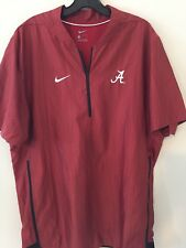 Nike Alabama Crimson Tide Short Sleeve 1/4 Zip Jacket Men's LG Red 908419