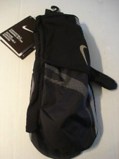 NIKE Adult Unisex Convertible Running Mitten Gloves Black/Cool Grey Size L New