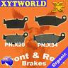 FRONT REAR Brake Pads for Honda XR 400 1996-2004