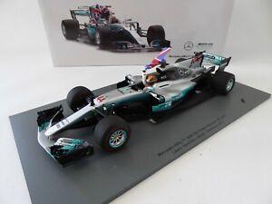 1/18 Formule 1 Mercedes AMG W08 Lewis Hamilton World Champion 2017 SPARK 18S312