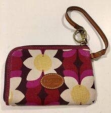 Fossil Multi-color Floral Coin & Credit Cards Wallet Wristlet