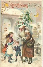 More details for hold to light santa/father christmas. brown robe. best merry christmas.
