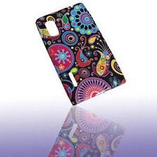 Design No.3 Silikon TPU Cover Case + Displayschutzfolie für LG E610 Optimus L5