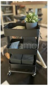 "IKEA RÅSKOG Utility cart, black,13 3/4x17 3/4x30 3/4 "" IN BOX BRAND NEW-"