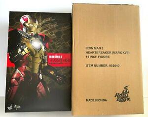 """Hot Toys IRON MAN 3 HEARTBREAKER  Mark XVII (17)  MMS 212 / 12"""" Figure"""