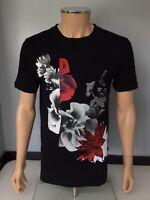 MCQ Alexander Mcqueen Mens Top T Shirt Size M Medium Black Short Sleeve