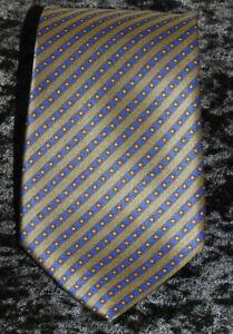 """STEFANO RICCI for Franco B navy & Olive Satin Stripe Silk Tie 60 X 3 1/2"""""""