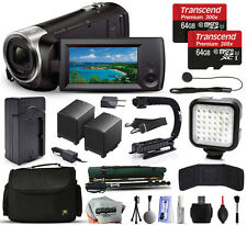 Sony HDR-CX440 HD Handycam Camcorder + 128GB + Stabilizer + Case + LED + More