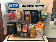 GTE TELEPHONE CENTER ACCESSORIES DISPLAY RACK WITH 45  ACCESSORIES