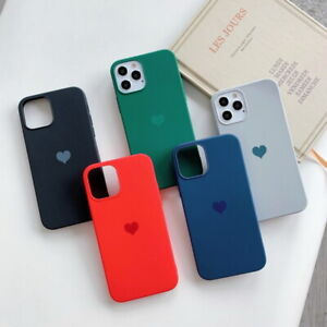 For iPhone 12 11 Pro Xs Max XR 8 Cute Candy Love Heart Soft Silicone Case Cover