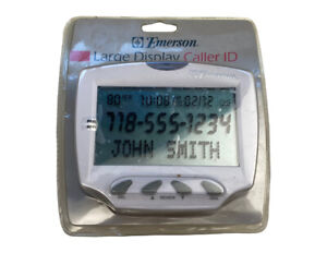Emerson Large Display Caller ID EM50WM NEW Sealed 80 Number Memory Adjustable