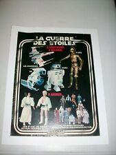 Vintage Star Wars Starwars Meccano French advertisement 1977 very RARE!