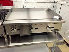 """36"""" Flat Griddle Grill New Commercial Restaurant Heavy Duty Nat Or Lp Gas"""