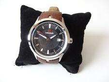 Swiss Military Hanowa para Hombres de Reloj con correa de cuero marrón 16-4003.7.04.007.5
