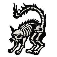 X-Ray Cat Mini Patch Skeleton Bone Kreepsville Embroidered Iron On Applique