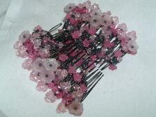 Vintage Magic Pink Floral EZ Stretchy Double Clips Hair Clip Comb w Instructions